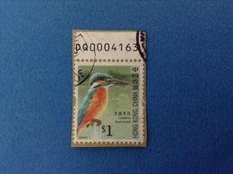 2006 HONG KONG CHINA FRANCOBOLLO USATO STAMP USED - UCCELLI MARTIN PESCATORE $ 1 - 1997-... Regione Amministrativa Speciale Della Cina