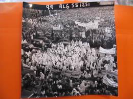 Photo Originale - DE GAULLE EN ALGERIE - LA FOULE - Format : 18 X 18 Cm - Célébrités