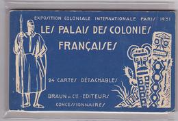 Carnet Complet 24 Cpa-75-paris-exposition Coloniale 1931-edi Braun & Cie - Exposiciones