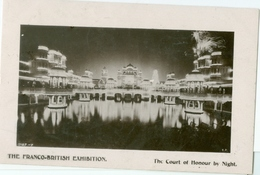 London 1908; Franco-British Exhibition. The Court Of Honour By Night - Circulated. (Davidson Bros) - London