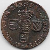 Espagne - Philippe V - 1710 -  Cuivre - Monnaies Provinciales