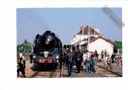 Cpm 10 - ROMILLY Sur SEINE - Aube - Gare Train 241P 17 - BLASON Le Creusot - 2010 - Animation - Romilly-sur-Seine
