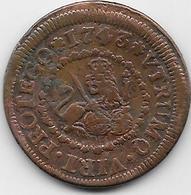 Espagne - Philippe V - 1743 - Cuivre - Monnaies Provinciales
