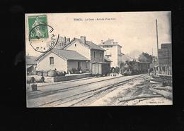 C.P.A. D UN TRAIN A LA GARE DE TENCE 43 - Francia