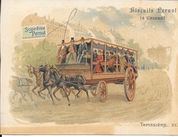 CHROMOS  BISCUITS PERNOT  -   TAPISSIERE      - MOYEN DE TRANSPORT - N° 23 - Pernot