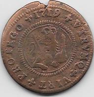 Espagne - Philippe V - 1719 - Cuivre - Monnaies Provinciales