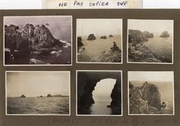 9 Photos Anciennes - Environs De CAMARET -   LES  TAS  DE  POIX  - 1930 - Lieux