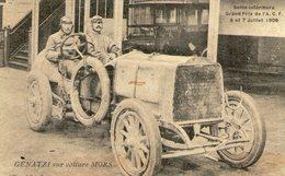 GRAND PRIX DE L'ACF , 6 Et 7  Juillet  1908 - GENATZI Sur Voiture MORS - TBE+ - Otros