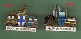 SNCF *** Depot De MARSEILLE *** Pin's N°1 En Vente - Uniquement *** TRAINS-01 - TGV
