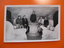 Photo Originale -  CHAMONIX - GROTTE DE LA MER DE GLACE - Format CPA - Années 50 - Orte