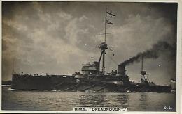 Real Photo Postcard, First World War Period, Battle Ship, Hms Dreadnought. - Warships