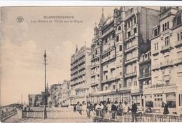 BLANKENBERGE / HOTELS EN VILLA S OP DE ZEEDIJK 1924 - Blankenberge