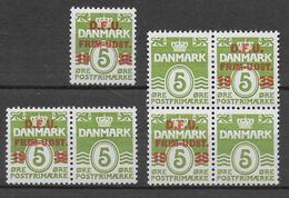 DANEMARK - 1938 - YVERT N° 267A ** MNH - DIFFERENTES COMBINAISONS - COTE = 40 EUR. - Ungebraucht