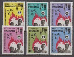 Rwanda 1966 No Nuclear Bombs 6v ** Mnh (41055C) - 1962-69: Ongebruikt