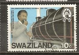 Swaziland 1984 Train Obl - Swaziland (1968-...)