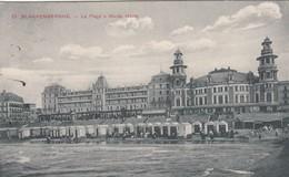 BLANKENBERGE / STRAND EN ZEEDIJK BIJ HOOG WATER  1909 - Blankenberge