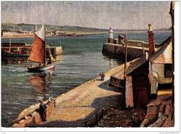 BL102.Vintage Postcard. Newlyn Harbour.By Herbert Truman - England