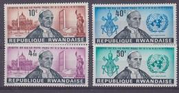 Rwanda 1966 Visit Pope Paul VI To Rwanda 4v ** Mnh (41055F) - Rwanda