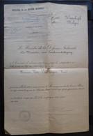 Diplôme Services Renseignements Des Armées Alliées 1914/1918 / Cachets Hasselt / Signature Pierre Forthomme - 1914-18