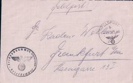Deutsche Reich,  Lettre Censure, Feldpost 20449 B - Frankfurt, Cachet (24.5.40) - Allemagne