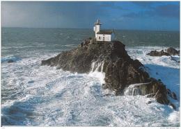 BL323.Postcard.Un-named Lighthouse On Rocks. - Lighthouses
