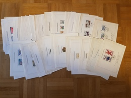 CSSR Lot 120 Offizielle Ersttagsblätter, Mit Kompletten Ausgaben, Unterschiedliche Qualität, Schönes Motivmaterial - FDC