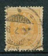 [72947]N° 12, 3a Bistre-jaune, Coupure Mais Belle Obl Centrale, Cote 17,50? - 1873-1918 Dépendance Danoise