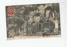LA GROTTE DE COTATAY (LE CHAMBON FEUGEROLLES) 85 ENVIRONS DE SAINT ETIENNE 1907 (VIERGE ET PETITE ANIMATION) - Le Chambon Feugerolles