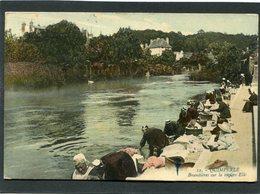 CPA - QUIMPERLE - Buandières Sur La Rivière Ellé, Très Animé - Quimperlé