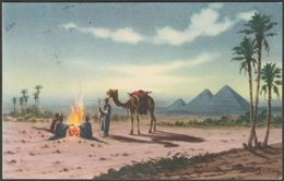 Bedouin Camp Near Pyramids, Giza, 1964 - Lehnert & Landrock Postcard - Gizeh