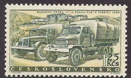 Ceskoslovensko 1958 - Tatra Transport, Kamiony, Camion, Tibet Scenery, Historic Building MNH - Czechoslovakia