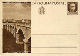 0276 (marti) Italia, Stationery Card 30c. 1932 Roma Ponte Ferroviario Pel Vaticano,bridge,pont,brucke, RR - Entiers Postaux