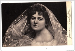 BP55.Antique Postcard. Lady With A Silk Scarf. Nacht. Glamour - Femmes