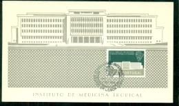 CM-Carte Maximum Card #1958-Portugal # Architecture # Medicine # Instituto De Medicina Tropical # Lisboa - Maximum Cards & Covers