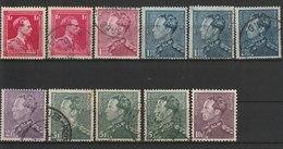 MiNr. 424 - 427, 429, 430 Belgien / 1936, 10. Sept./1969. Freimarken: König Leopold III. MiNr. 423-424 RaTdr. (1010 + 10 - 1929-1937 Heraldischer Löwe