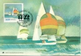 CM-Carte Maximum Card #1982-Portugal # Sport # World Championship # Voilier,sail Boat,Segelboot 470° Classe - Cartes-maximum (CM)