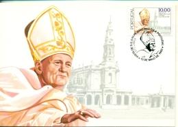 CM-Carte Maximum Card #1982-Portugal # Pape,Pope, Papst,Papa , Johannes Paul II (Joao Paulo II ) - Cartes-maximum (CM)