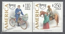 Chile - Chili 1997 Yvert 1428-29, América UPAEP, Postmen - MNH - Chile