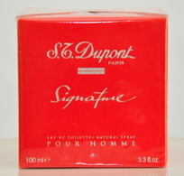 S.T. Dupont Signature Pour Homme Eau De Toilette Edt 100ML 3.3 Fl. Oz. Spray Perfume Man Rare Vintage Old 2000 New - Men