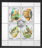 SHARJAH & DEPENDENCIES COMPLETE SET BIRDS PAJAROS OISEAUX AN 1972 MICHEL NRS. 1296 - 1299 OBLITERES BELLES AIR MAIL - Schardscha