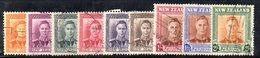 454 490 - NUOVA ZELANDA 1947 , Giorgio VI Serie Usata Yvert N. 285/294 - 1907-1947 Dominion