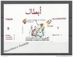 Mauritanie - Mauritania 1980 Yvert A199, Spain 82, Football World Cup - Overprinted Non Perforated Mate  - Airmail - MNH - Mauretanien (1960-...)