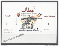 Mauritanie - Mauritania 1980 Yvert A197, Spain 82, Football World Cup - Overprinted Non Perforated Mate - Airmail - MNH - Mauretanien (1960-...)