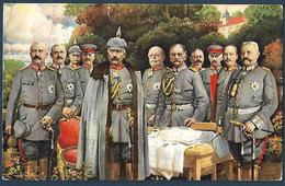 Unsere Heerfürher Im Osten - Kaiser Wilhelm Et Son état-major - Guerre 1914-18
