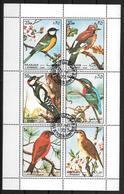 PAJAROS BIRDS OISEAUX COMPLETE SET OBLITERE AN 1972 SHARJAH & DEPENDENCIES TBE MICHEL NRS. 1178 - 1183 - Ohne Zuordnung