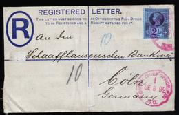 A5675) UK Grossbritannien R-Brief 1892 Roter Stempel London Chief Office - Briefe U. Dokumente