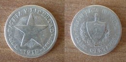 Cuba 10 Centavos 1915 Star Silver Argent Centavo Que Prix + Port Pesos Skrill Paypal Bitcoin - Cuba