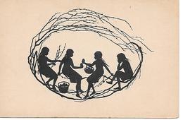 Johanna Beckmann, Girls, Filles, Mädchen, Easter Eggs  - Silhouette Card - Silhouette - Scissor-type