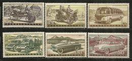 Božek Steam Car,Škoda Sport Vintage Car,Škoda Felicia 1959,etc    6 Timbres Neufs ** - Automobili