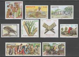 MAYOTTE:  N°232/240 ** (année 2010 Complète)       - Cote 22,70€ - - Mayotte (1892-2011)